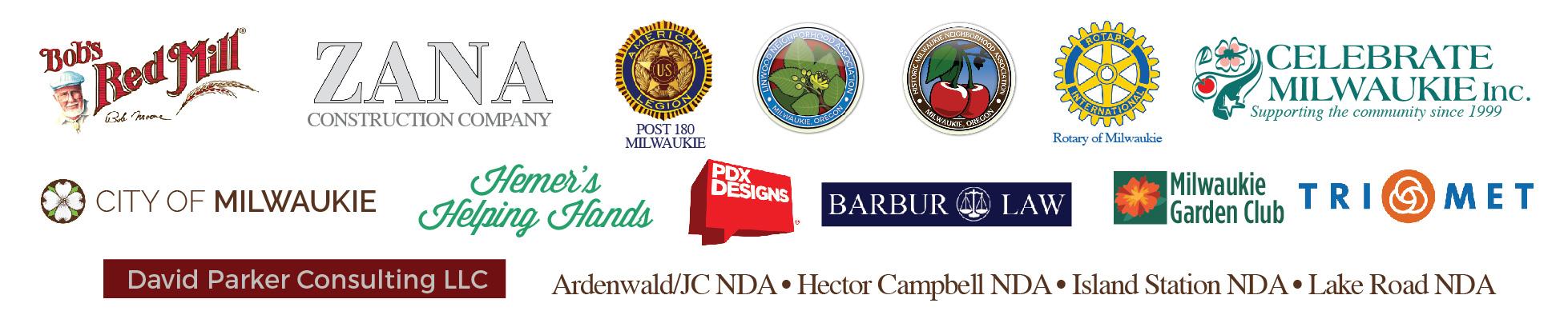 Milwaukie Museum sponsors